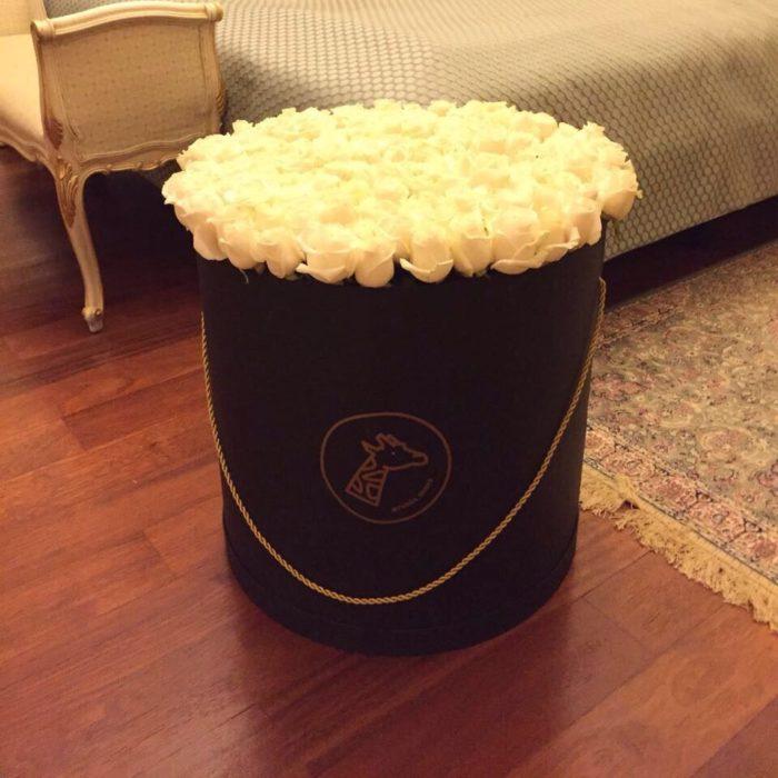 Шляпная коробка big 125-155 Роз