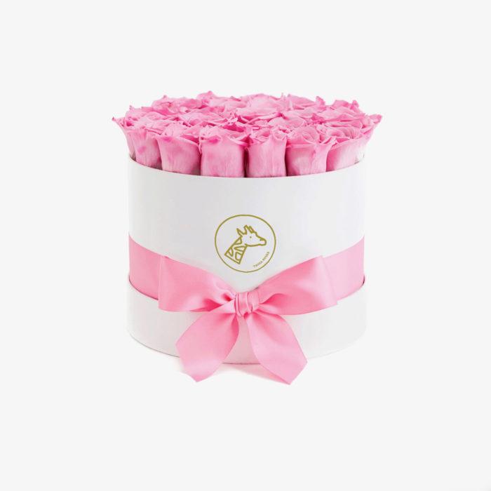 Шляпная коробка small 17-25 розовых роз